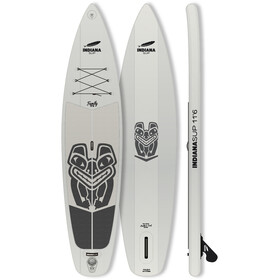 Indiana SUP 11'6 Family Pack tavola with 3-Piece Fibre/Composite Paddle grigio